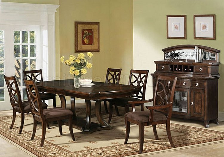 60560 Keenan Dining Table In Dark Walnut By Acme W Options
