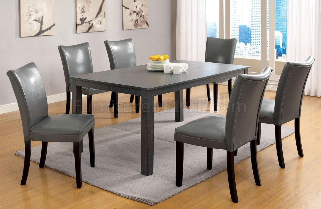 cm3179t kenton i 7pc dining set in gray fads cm3179t kenton i
