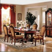 Chateau De Ville Dining Table 04075 In Cherry W/Options By Acme