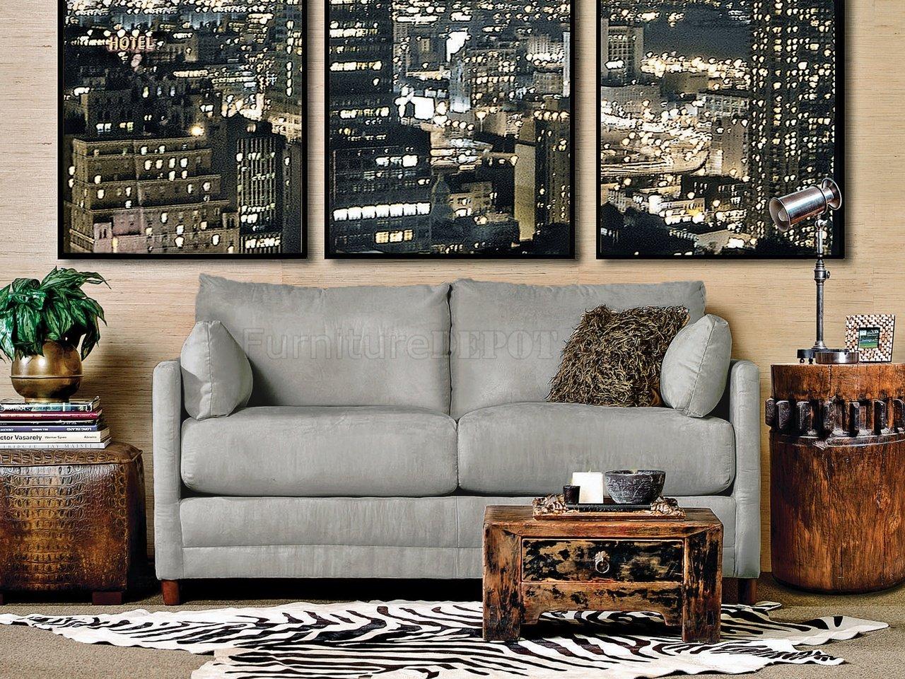 Softee Sofa Bed In Grey Fabric By Mstar W Full Sleeper