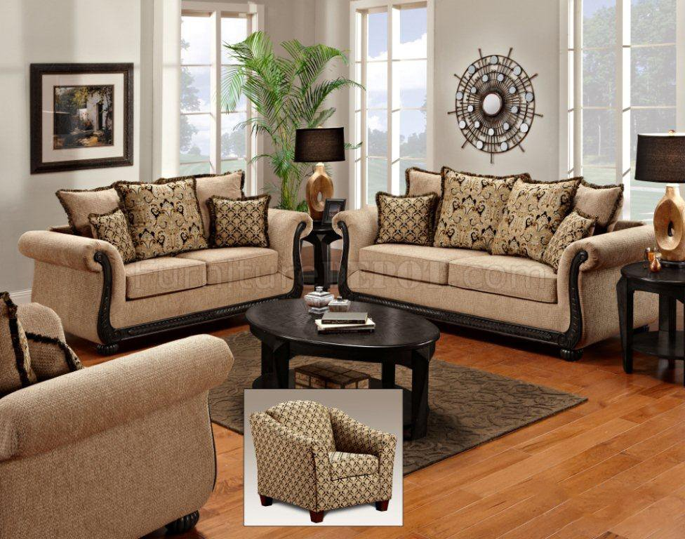 Taupe Fabric Classic Sofa Amp Loveseat Set W Options