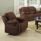 7191 Reclining Sofa in Brown Microfiber w/Options