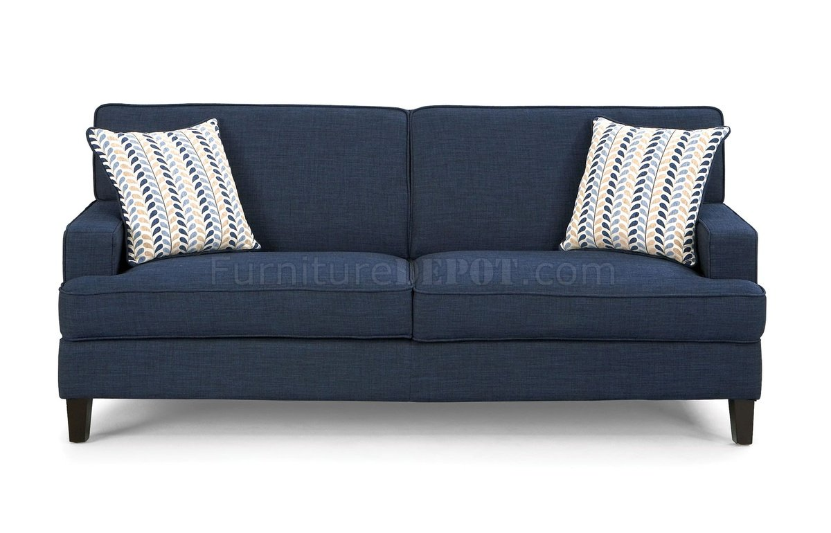 Finley Sofa In Blue Fabric 504321 By Coaster W Options