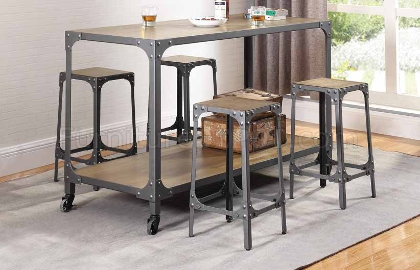 4 stool kitchen island 102998 kitchen island w 4 bar stools 5pc set by coaster 3904