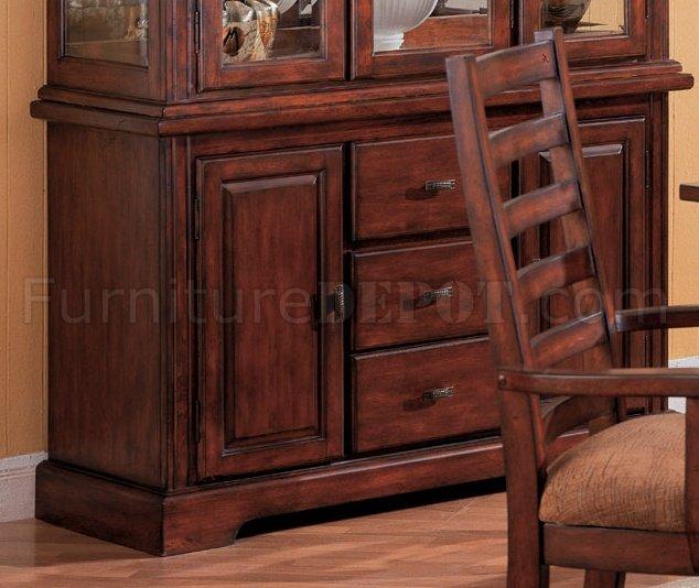 distressed walnut finish dining furniture w brown damask seats crds 40
