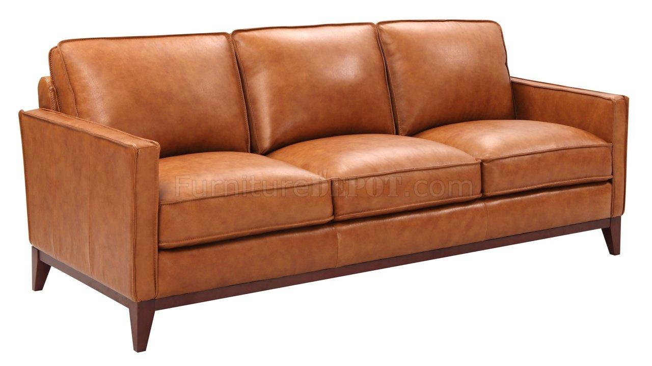 Super Newport Sofa Loveseat Set Leather Italia In Camel W Options Creativecarmelina Interior Chair Design Creativecarmelinacom