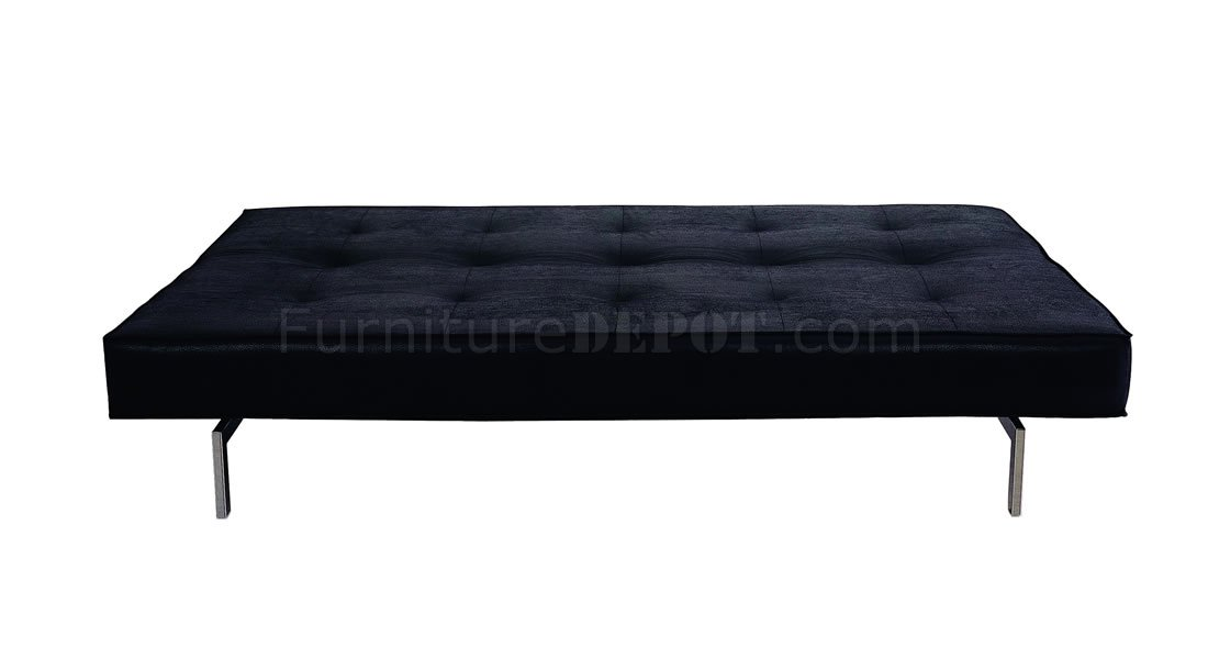 Stylish Armless Sleeper Sofa In Black White Or Red