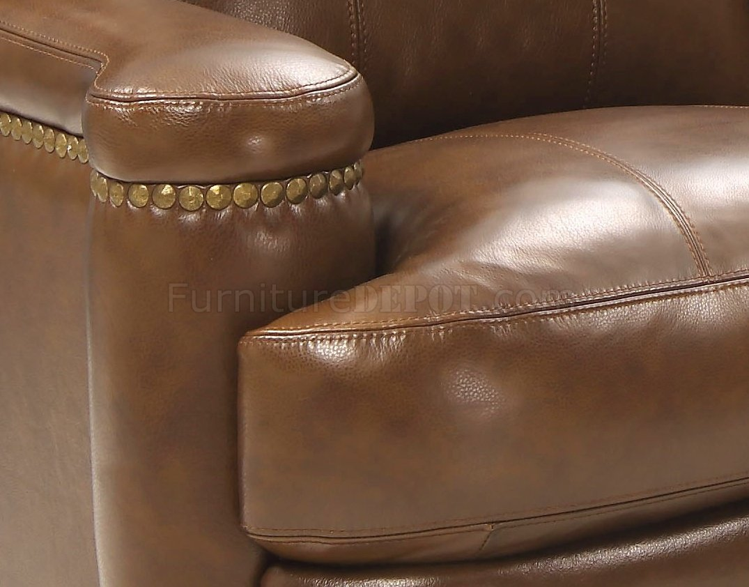 Hutton Sofa Amp Loveseat Set In Brown By Leather Italia