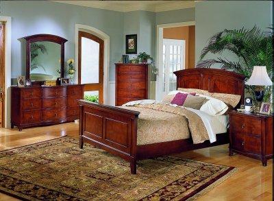 black profile queen king bedroom furniture sale one