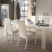 Domino Dining Table by Rossetto in White Mapple w/Options