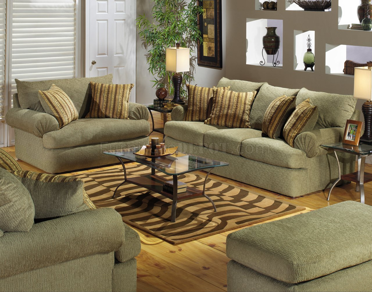 Olive Fabric Modern Couch Amp Loveseat Set W Optional Items