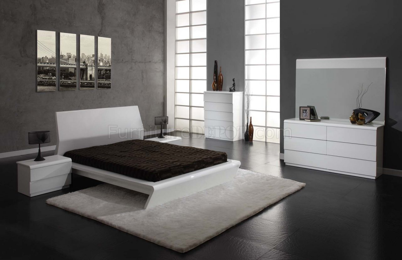 white high gloss finish modern bedroom w options 16456 | fbb9d122cbcf76239f6d4aff9894dcfa image 1280x828