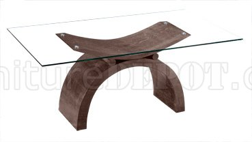 Top Dining Table with Half Moon Shape Wooden Base