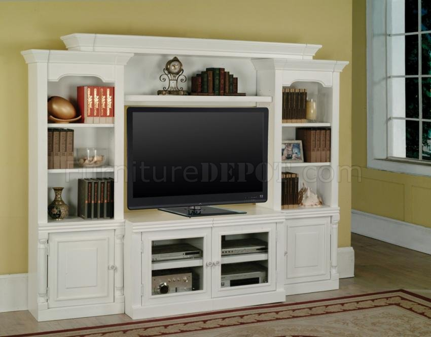 Cottage White Premier Alpine Entertainment Wall Unit