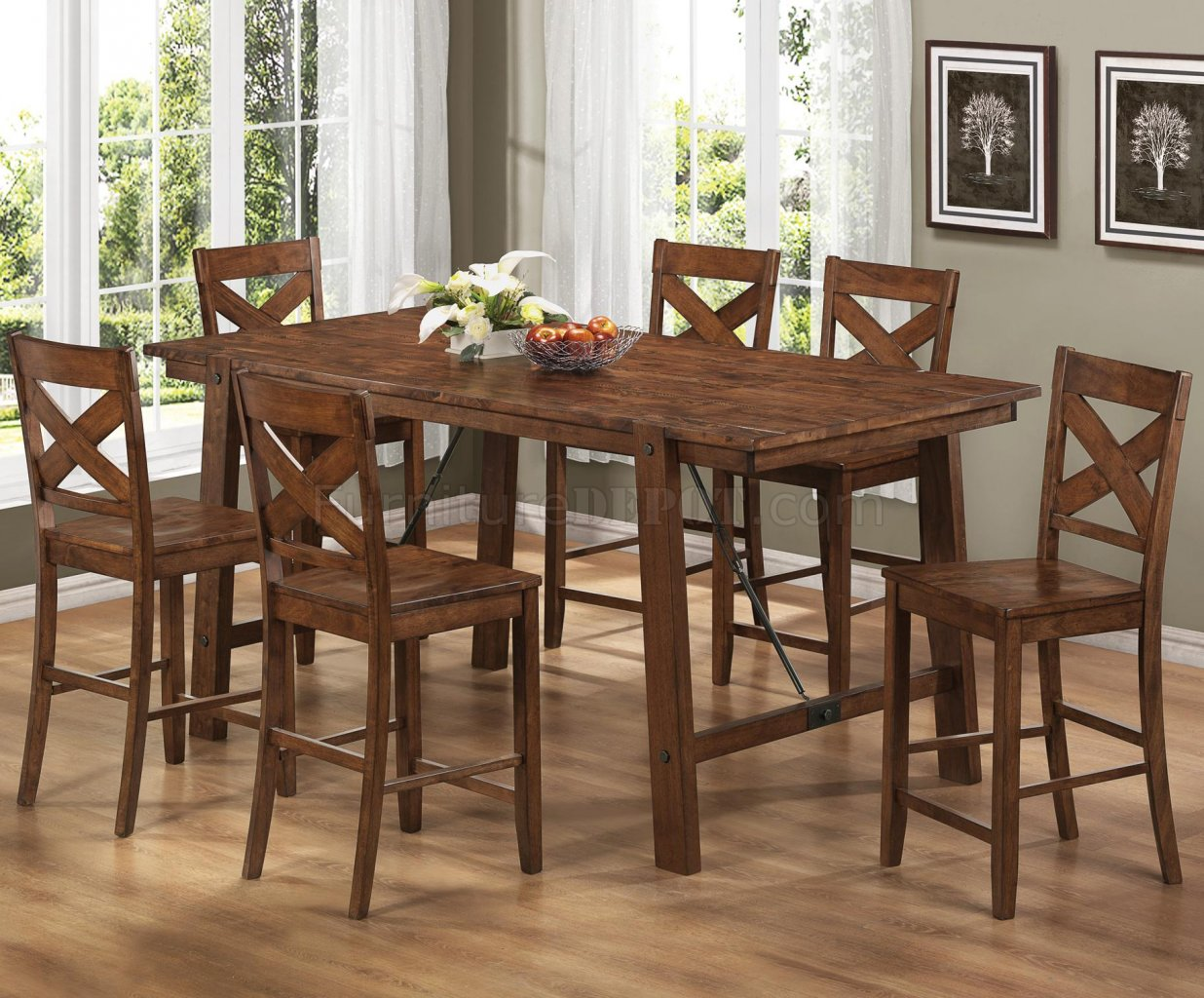 104188 Lawson Counter Height Dining Table by Coaster w/Options