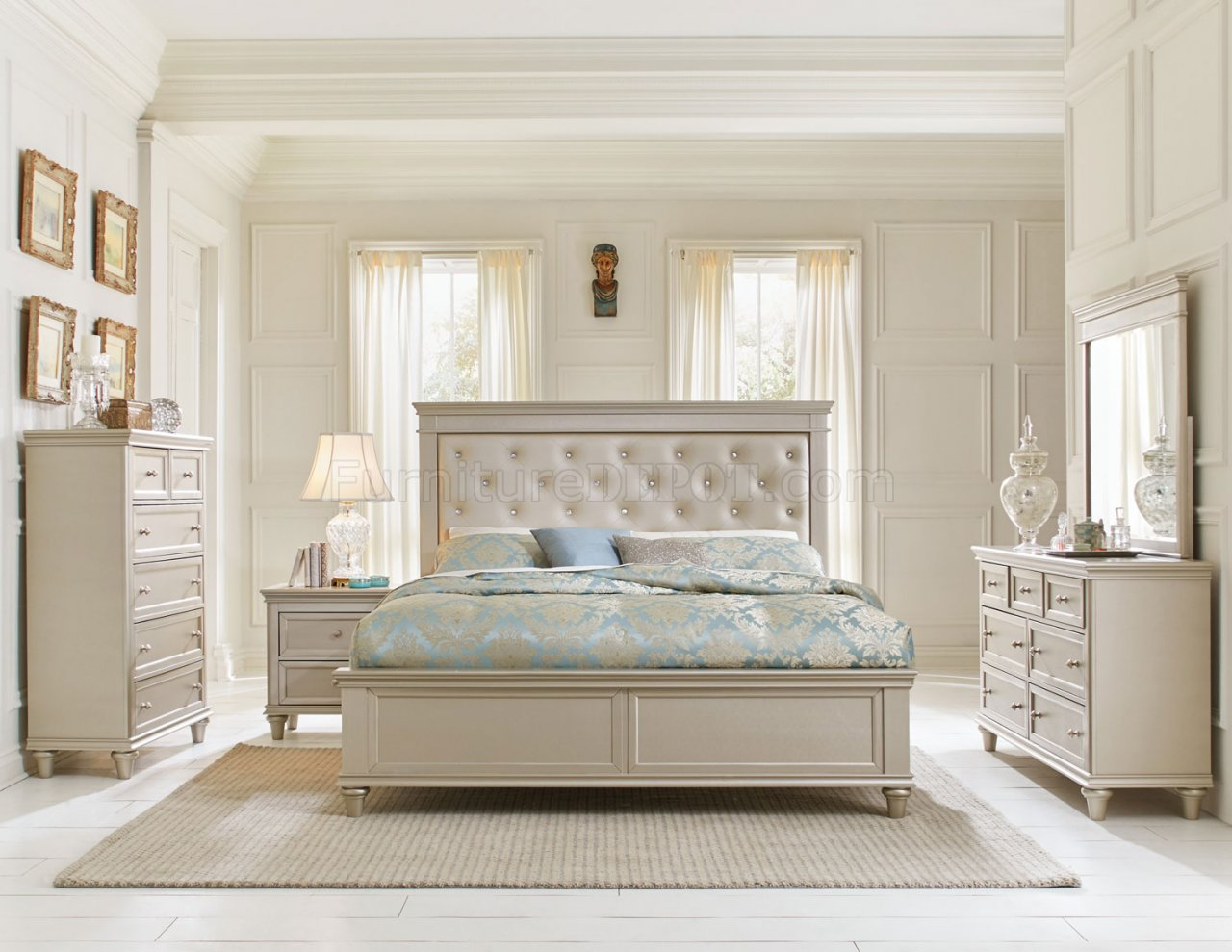 Celandine bedroom 1928 in champagne by homelegance w options