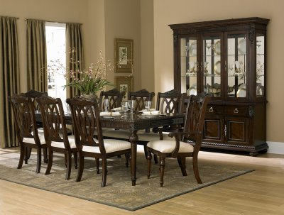 Rich Cherry Finish Classic Dining Room Table W Optional Items