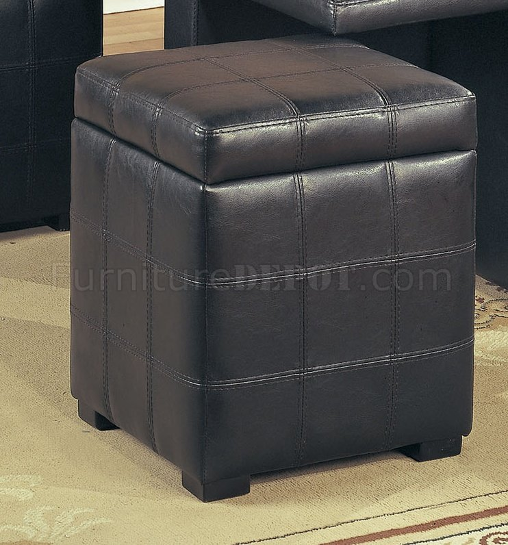 Dark brown leather stylish coffee table w 4 storage ottomans Brown leather ottoman coffee table