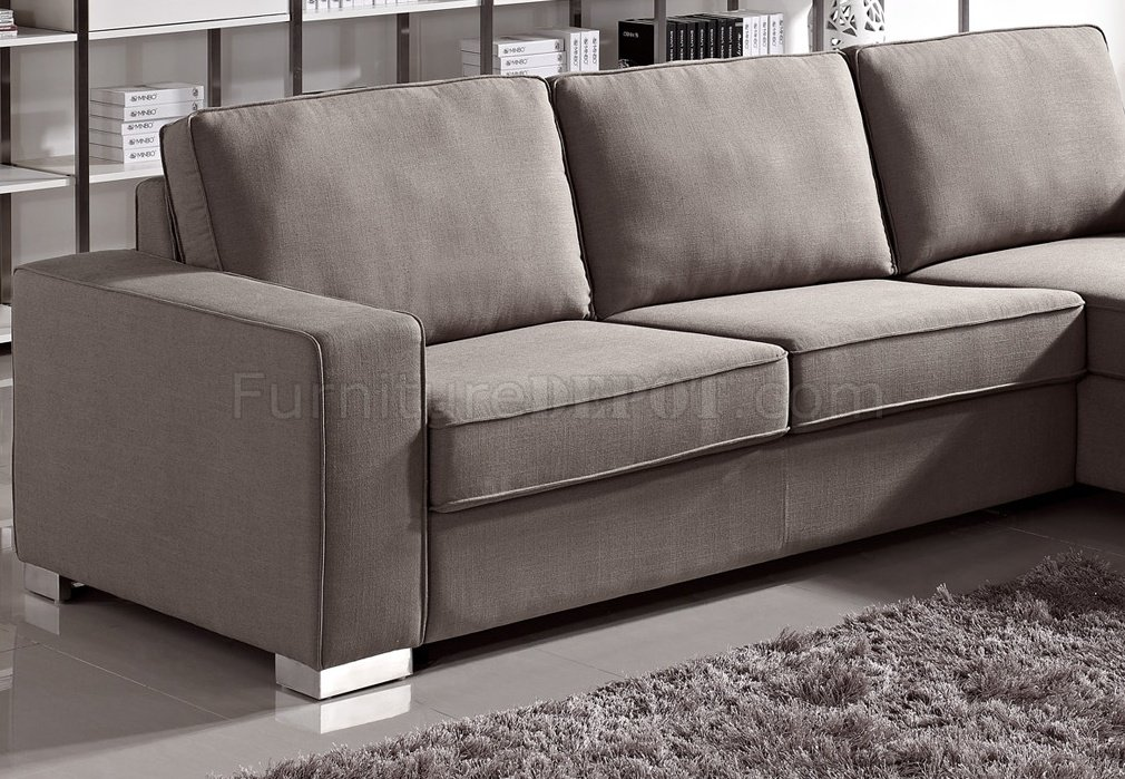 1264 sectional sofa bed convertible in fabric by esf for Sectional sofa that converts to bed