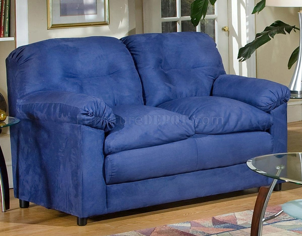 6300 Lisa Sofa Amp Loveseat Set In Cobalt Blue Fabric By Chelsea