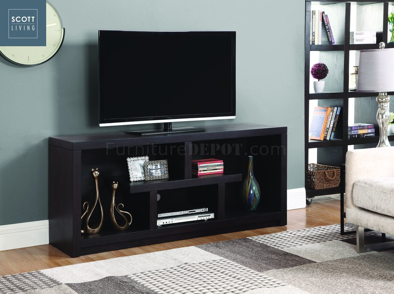Macy 701039 Scott Living Coaster Walnut Tv Stand