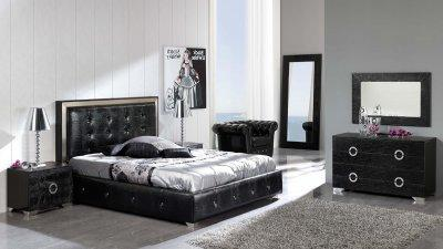 Modern  Platform on Faux Leather Modern Platform Bed W Storage   Modern Furniture Zone
