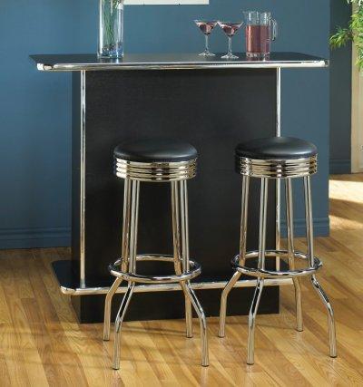 Colorful Modern Furniture on Color Finish Modern Bar Unit W Chrome Trim   Shelves   Furniture Clue