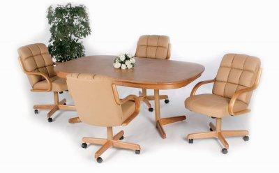 dinette chairs with casters - ShopWiki