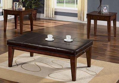 Coaster Round Ottoman Cream Large Coffee Tables