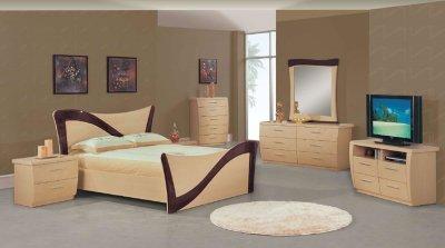 Dark Cherry Bedroom Furniture on Cherry Bedroom Furniture Sets On Beige Dark Cherry Lacquer Finish