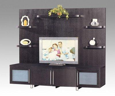 Living Room Storage Cabinets on Living Room Furniture Modern Wall Unit Wenge Finish Contemporary Tv