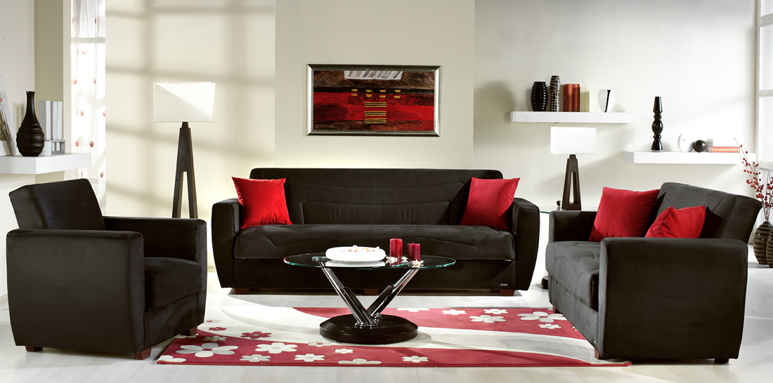 Coaster Living Room Sofa 300148 At Overstock Furniture Bed Mattress . -  Beside Table Lamp Near - Red And Black Furniture For Living Room Roselawnlutheran
