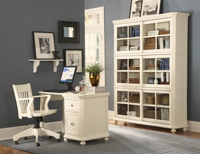 8891 Hanna White Home Office Desk By Coaster W Options